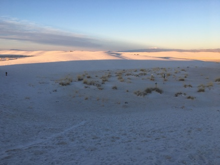 White Sands, New Mexico, at sunset
