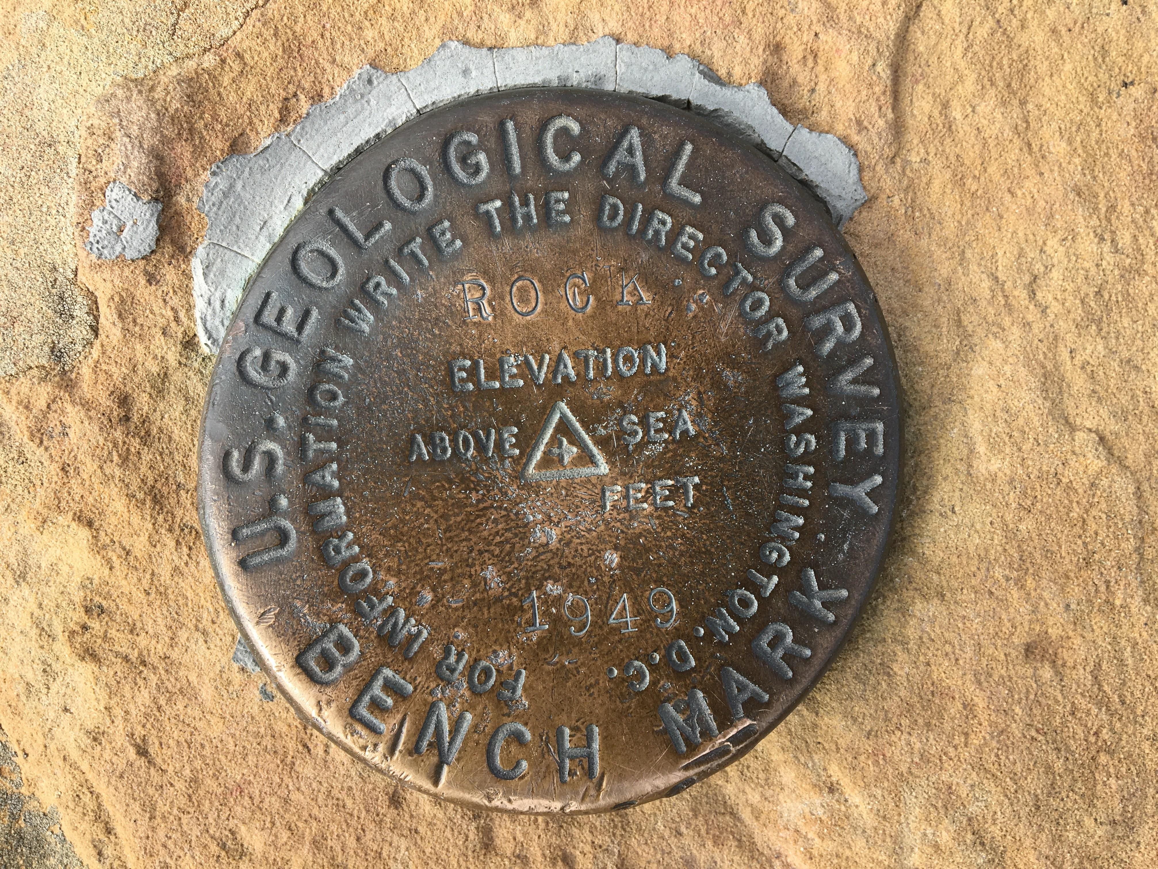 US Geological Survey marker, 1949