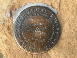 US Geological Survey marker, 1949