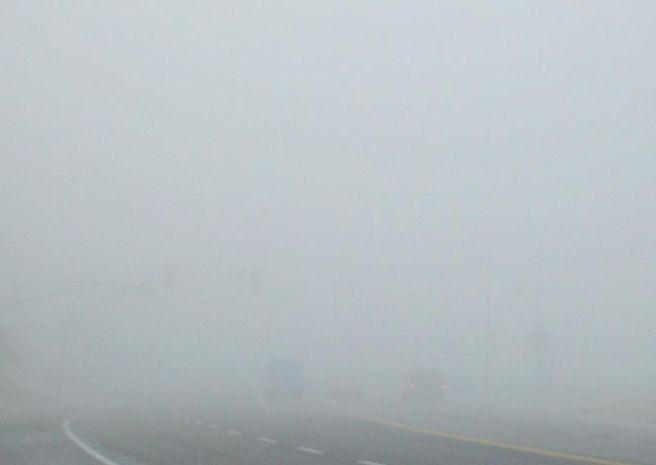 Dense Tule fog in Bakersfield